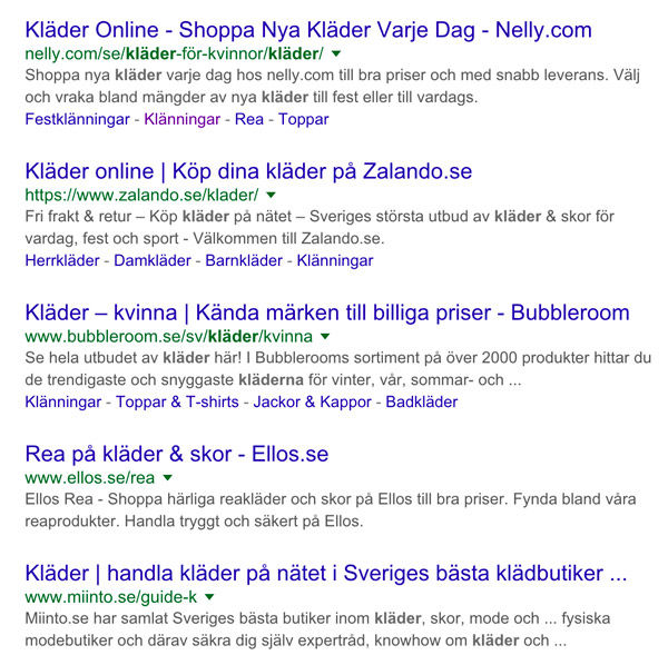 Analysera konkurrensen på Google